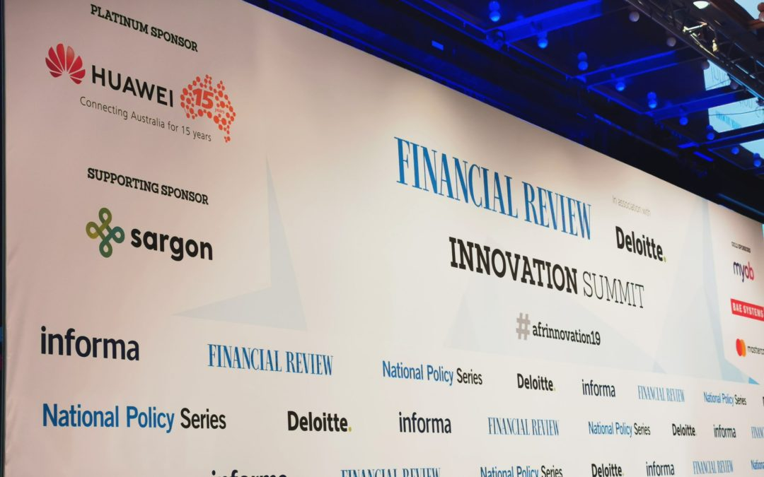 The Australian Financial Review Innovation Summit 2019 – reflections for Australia's entrepreneur ecosystem